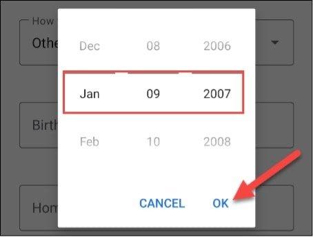 date d'anniversaire Google Assistant