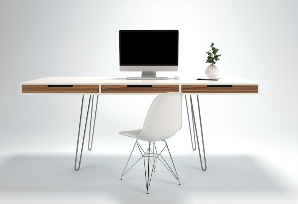 beau bureau design blanc épuré