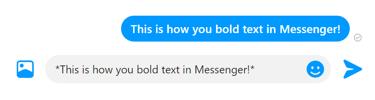 Ajouter du texte en gras surfb Messenger