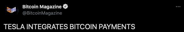 communauté bitcoin tesla
