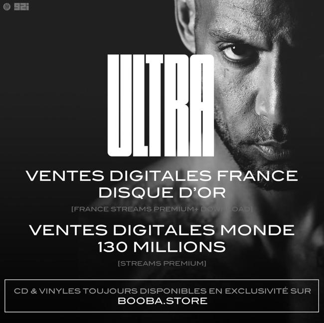Booba ultra chiffres ventes