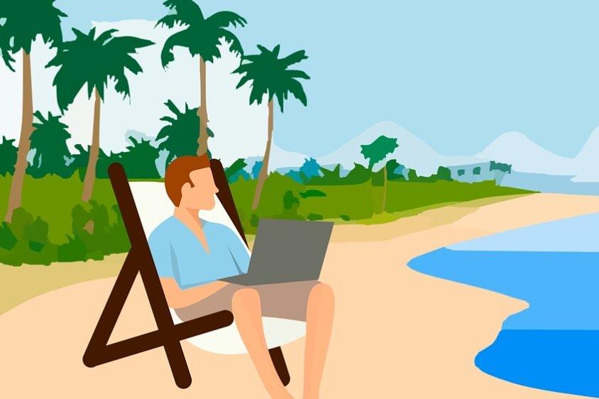 freelance en vacance