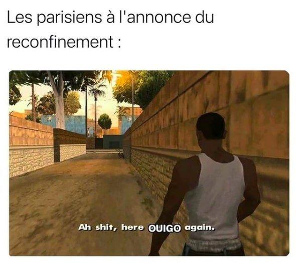 memes confinement ouigo