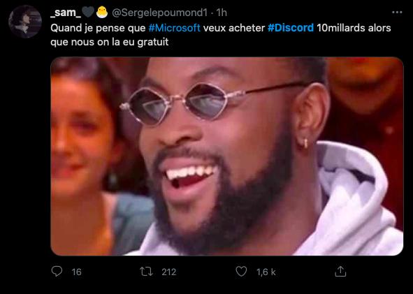microsoft rachat discord reaction twitter