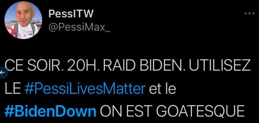 Pessi raid Joe Biden