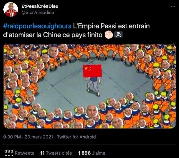 Messi twitter chine