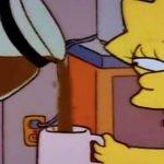 lisa café simpson meme