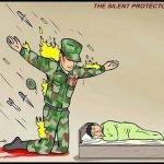 meme armé protege enfant