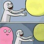 meme barbe a papa rose ballon