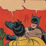 meme batman robin gifle