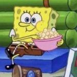 meme bob leponge popcorn