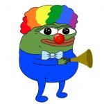 meme clown pepe frog