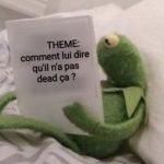meme dead ca Comment lui dire qu'il n'a pas dead ça ?