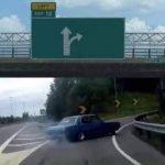 meme direction voiture