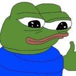 meme frog pouce en l'air