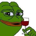 meme frog verre de vin alcool grenouille