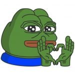 meme grenouille verte love