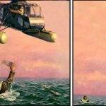 meme helicoptere noyé