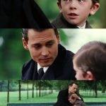 meme johnny deep enfant pleure banc