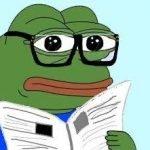 meme pepe frog grenouille intello