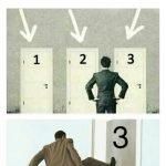 meme porte choix 3 portes template