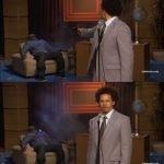 meme presentateur tue pistolet