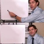 meme template the office serie tableau vide