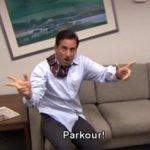meme the office parkour