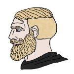 meme yes chad homme barbu blond