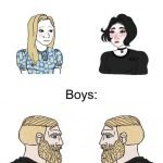 meme yes chad homme femme barbu blond