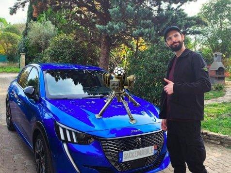 sackzi qui vient de mettre le systéme trophy sur sa voiture
