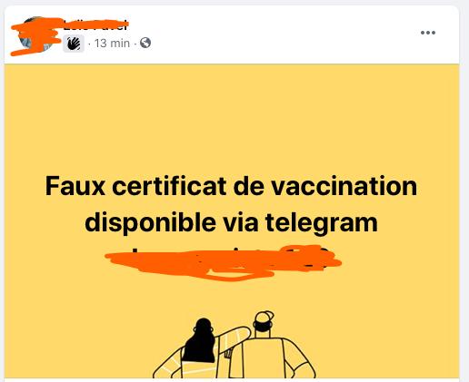 faux certificat de vaccination