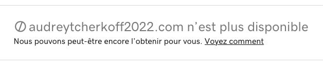 audrey tcherkoff 2022